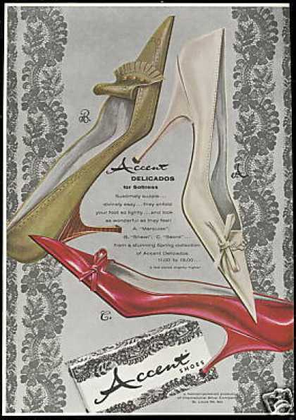 Accent Delicados Ladies Shoe Fashion (1961)