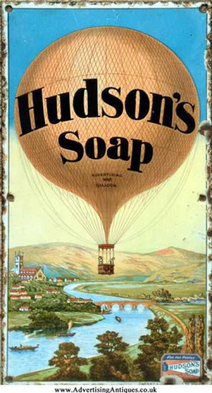Hudson's Soap Balloon Sign