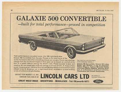 Ford Galaxie 500 Convertible British (1965)