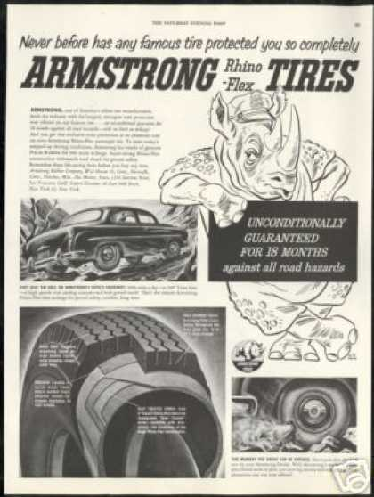 Armstrong Rhino Flex Tires Vintage (1952)