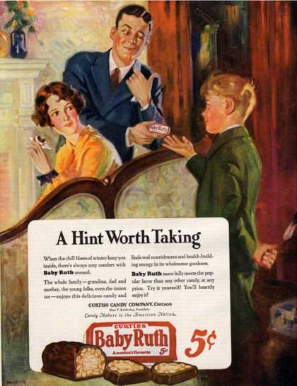 Baby Ruth, Chocolate Sweets, USA (1927)