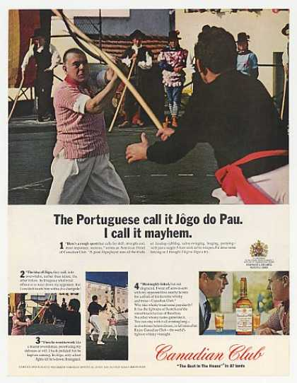 Canadian Club Whisky Portuguese Jogo do Pau (1965)