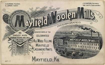 Mayfield Woolen Mills Incorporated's Cassimere Pants – Mayfield Woolen Mills