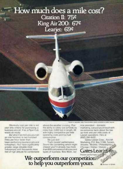 Gates Learjet Photo Cost Per Mile (1978)