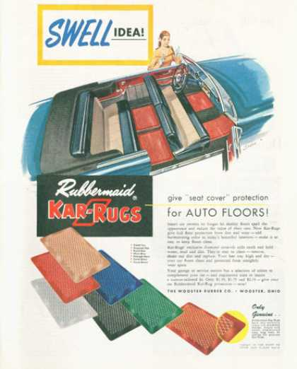 Rubbermaid Kar-rugs Car Mats (1952)