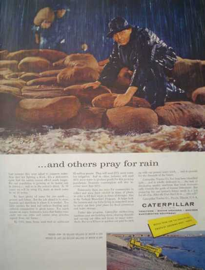 Caterpillar Tractors Graders Enginers Others pray for rain (1959)