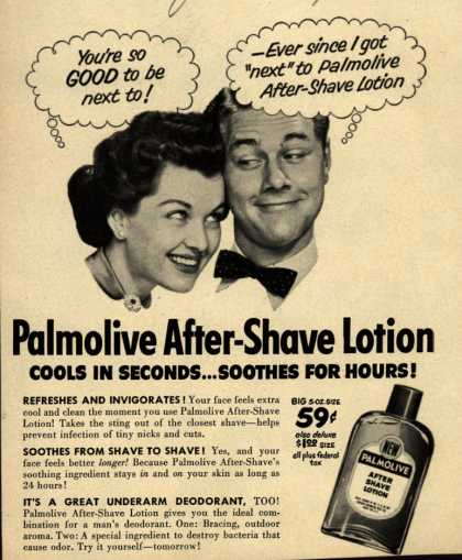 Palmolive Company's Palmolive After Shave Lotion – Palmolive After-Shave Lotion (1952)