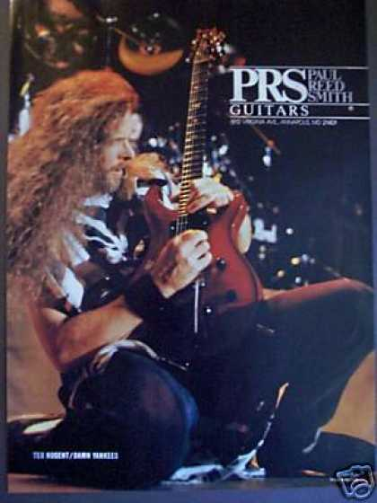 Ted Nugent Damn Yankees Photo Prs Guitars (1991)