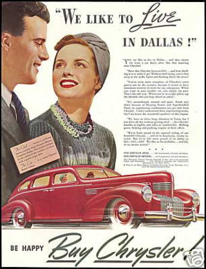 Chrysler Royal Sedan Car Dallas Neiman Marcus (1939)