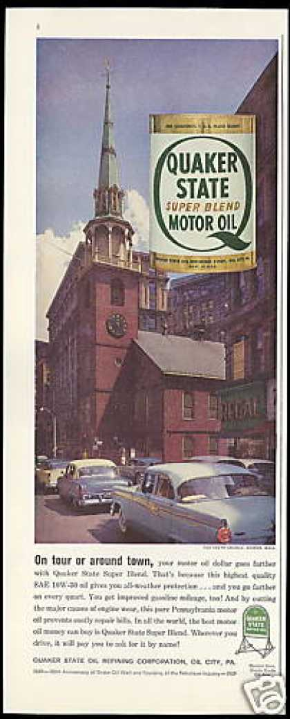 Old South Church Boston Mass Quaker State Oil (1959)