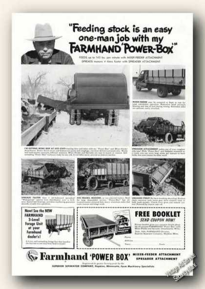 Farmhand Power-box Farm Advertising (1951)