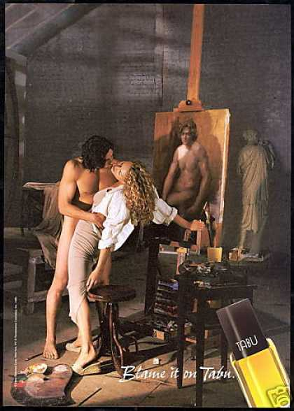 Dana Tabu Perfume Artist Naked Man Photo (1997)
