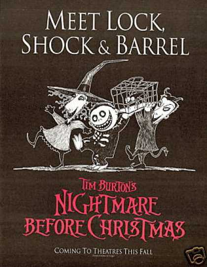 Nightmare Before Christmas Burton's Movie Promo (1993)