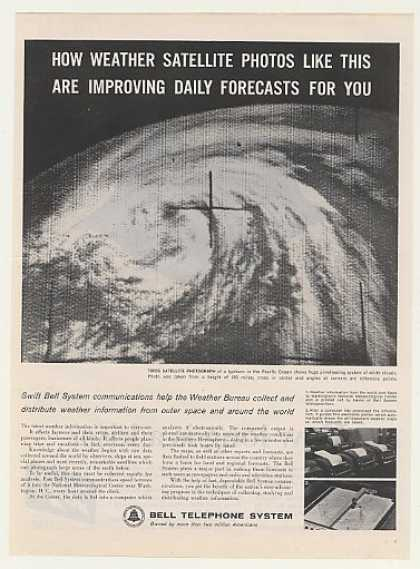 Bell Telephone Tiros Weather Satellite Photo (1963)