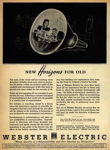 Webster Electric Company's Electronics – New Horizons for Old (1943)