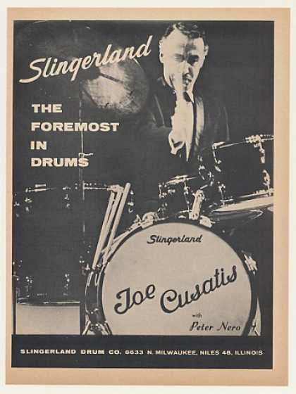 Joe Cusatis Slingerland Drums Photo (1968)