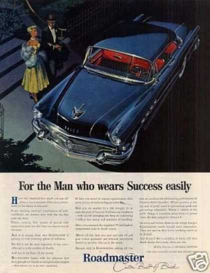 "Buick Roadmaster Car Ad ""For the Man Who... (1956)"