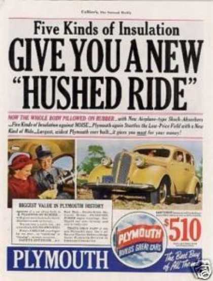 "Plymouth Car Color Ad ""Give You a New Name... (1937)"