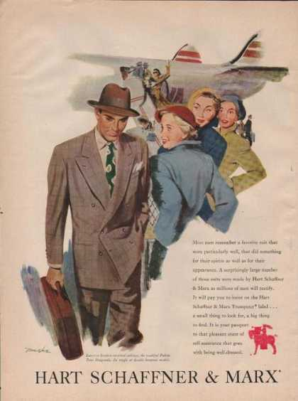 Hart Schaffner & Marx Mens Suits (1949)