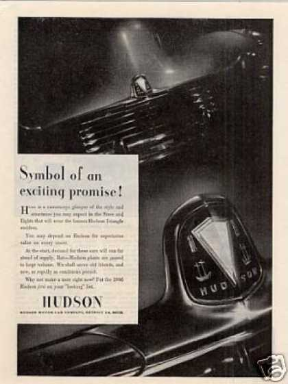 "Hudson Car Ad ""Symbol of an Exciting... (1945)"
