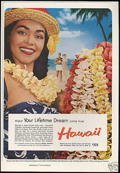 Hawaii Travel Pretty Woman Leis Dreams (1958)