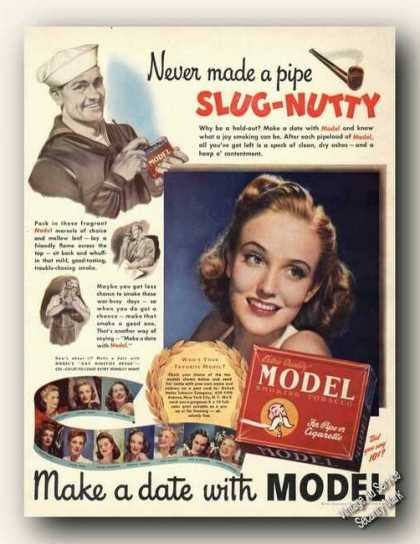 Georgia Carroll Photo Model Tobacco Slug-nutty (1943)
