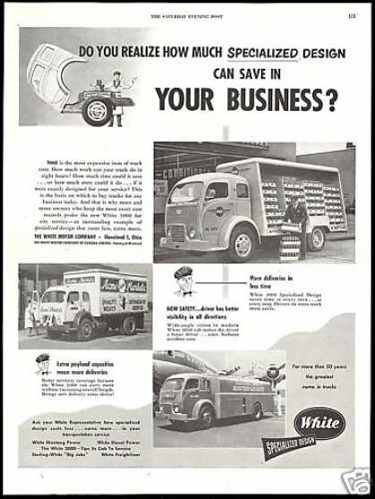 White 3000 Truck Acme Coca Cola Lockheed (1952)