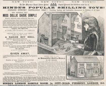 Hinde's Popular Shilling Toys! Advertisement for a Victorian Doll's House
