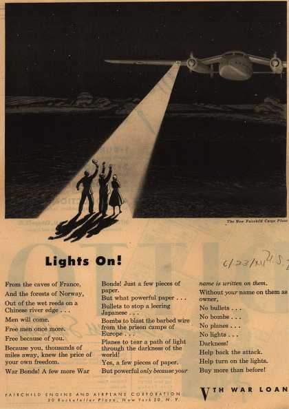 Fairchild Engine and Airplane Corp.'s 5th War Bonds – Lights On (1944)