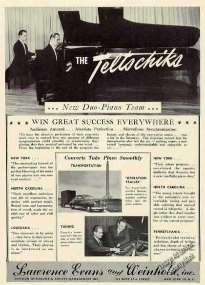 The Teltschiks Photos Duo-piano Booking (1949)