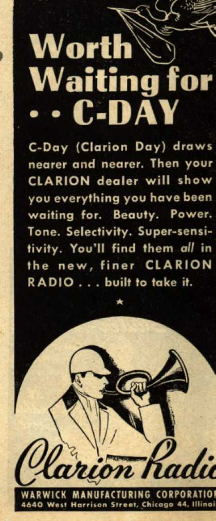 Clarion Radio's Radio – Worth Waiting for .. C-day (1945)