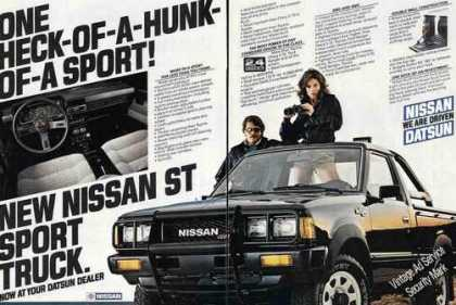 Nissan St Sport Truck Large 2 Pg Collectible (1983)