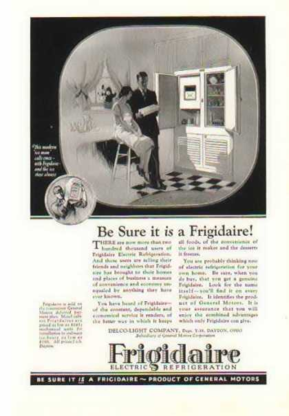 Refrigerator – Frigidaire Electric Refrigeration – With Ice Trays (1926)