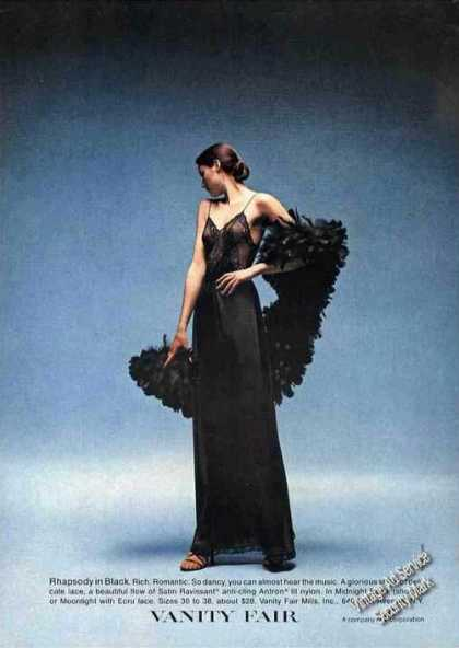 Rhapsody In Black Dramatic Vanity Fair Fashion (1978)