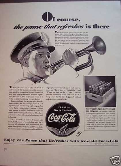 Marine Horn Player Case of Coke Coca-cola (1941)
