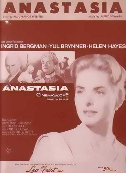 Anastasia – Ingrid Bergman Movie Sheet Music (1956)