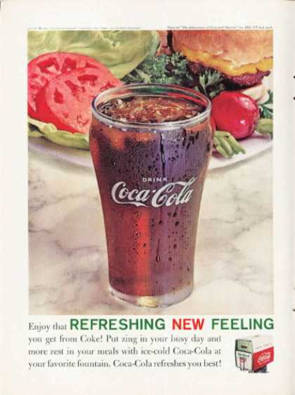 Coke Coca Cola Fountain Glass (1961)