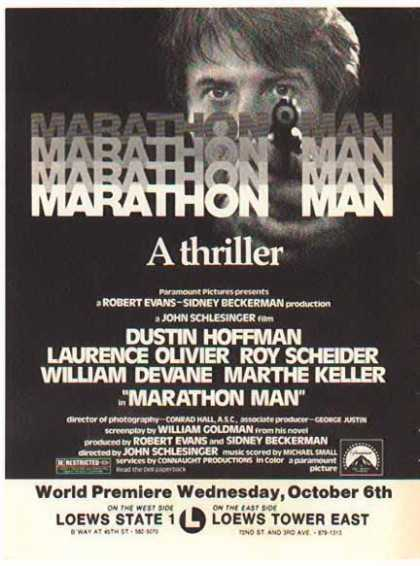 Marathon Man Movie – Dustin Hoffman (1976)