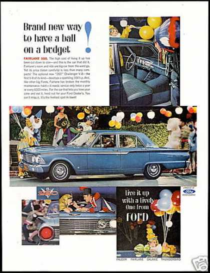 Ford Fairlane 500 4 Dr Vintage Photo Car (1962)