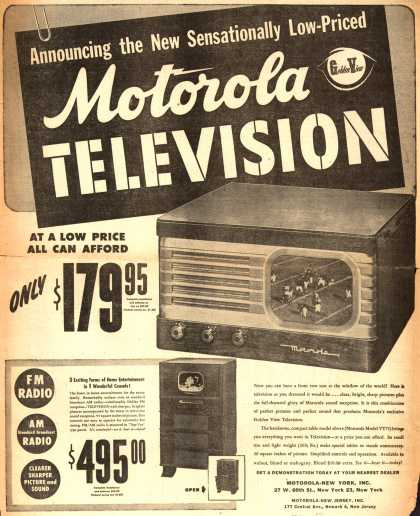 Motorola's Television – Announcing the New Sensationally Low-Priced Motorola Television (1948)