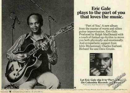 "Eric Gale Photo Guitar ""Part of You"" Rare Album (1979)"