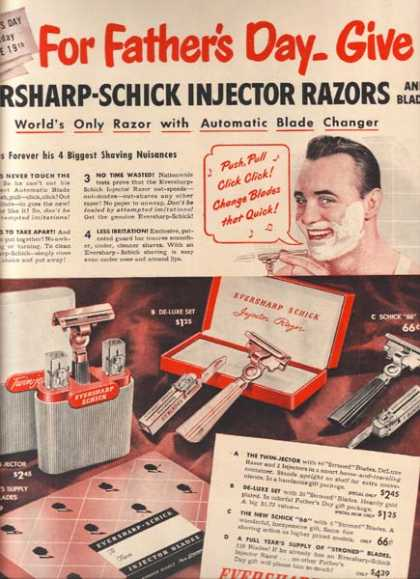 Eversharp-Schick's Injector Razors (1949)