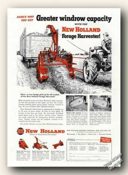 New Holland Forage Harvester Farm Advertising (1951)
