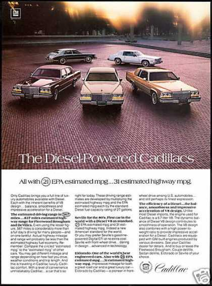 Cadillac 5 Diesel Car Photo Print Vintage (1980)