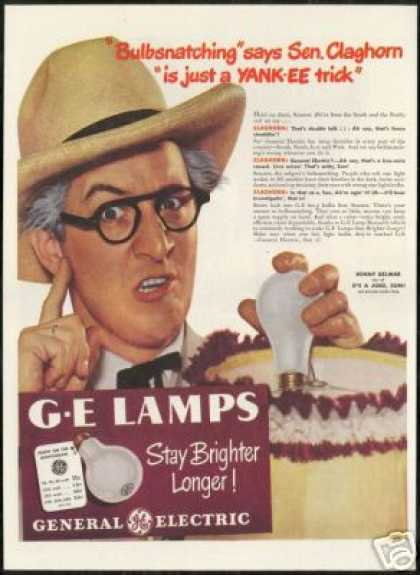 Kenny Delmar Photo GE Lamps Light Blub (1947)