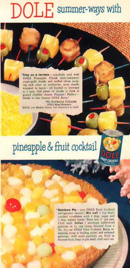 Dole Fruit Cocktail – Two Recipes (1950)