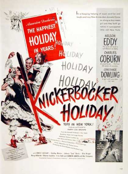 """Knickerbocker Holiday"" (1944)"