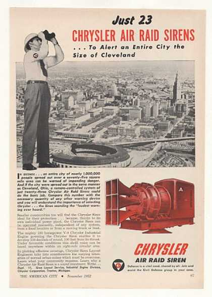 Cleveland Civil Defense Chrysler Air Raid Siren (1952)