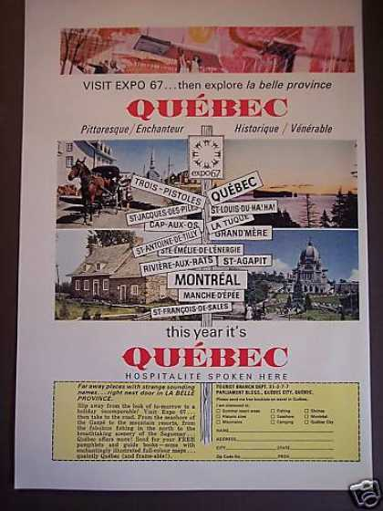 Visit Expo 67 Quebec Canada Travel (1967)