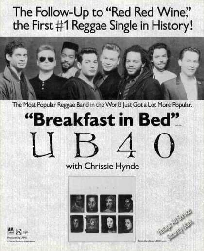 "Ub40 Photo ""Breakfast In Bed"" Album Photo (1988)"